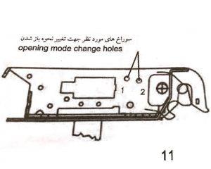 تغییر نحوه باز شدن درب توسط قفل برقی