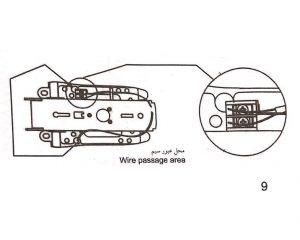 اتصال برق به قفل برقی کاویان
